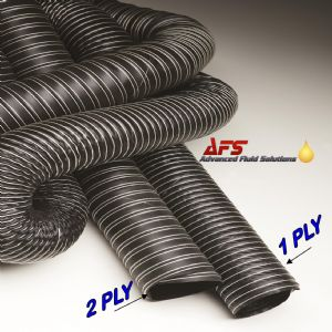160mm I.D 1 Ply Neoprene Black Flexible Hot & Cold Air Ducting